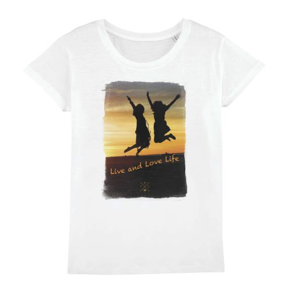 T-shirt femme original Live the life you love