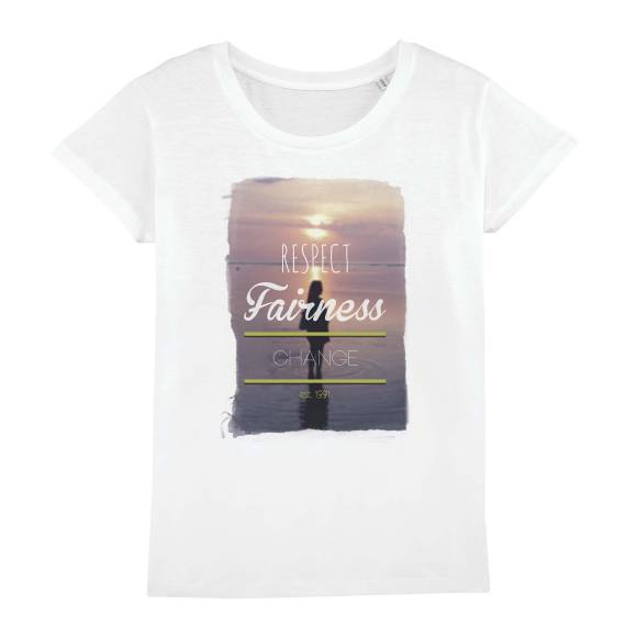 T-shirt femme original a girl in water #wanderlust