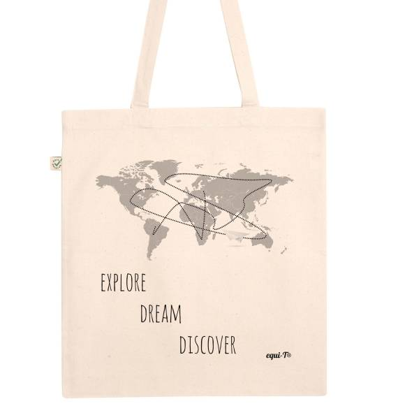 Tote Bag original Explore Dream Discover mark twain