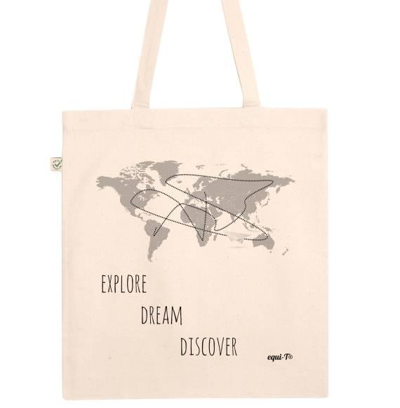 Tote Bag original Explore Dream Discover mark twain