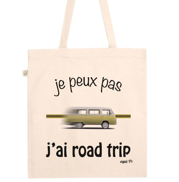 Totebag je peux pas, j'ai road trip