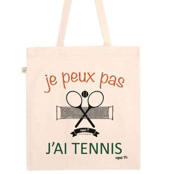 Totebag je peux pas j'ai tennis
