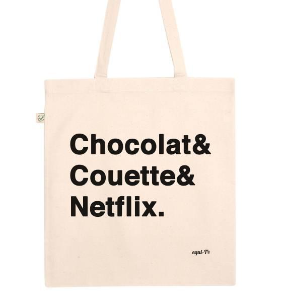 Totebag Chocolat & Couette & Netflix