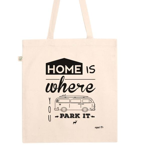 Tote bag home is where you park it