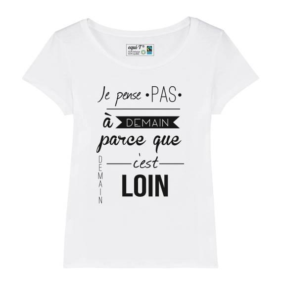 T-shirt femme IAM - Demain c'est loin