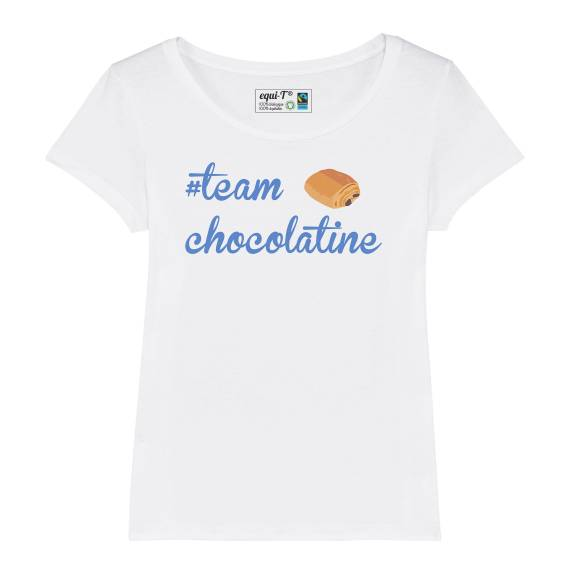 T-shirt femme team chocolatine