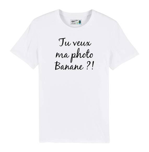T-shirt homme Retour vers le futur - Tu veux ma photo banane !