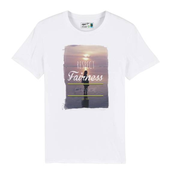 T-shirt homme Wanderlust - a girl in water #sunset