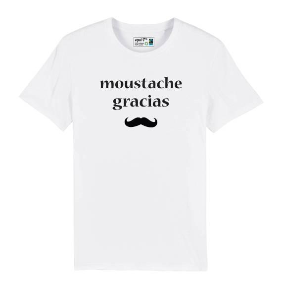 T-shirt homme Moustache gracias
