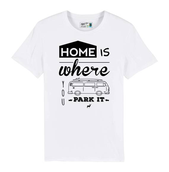 T-shirt homme Home is where you park it