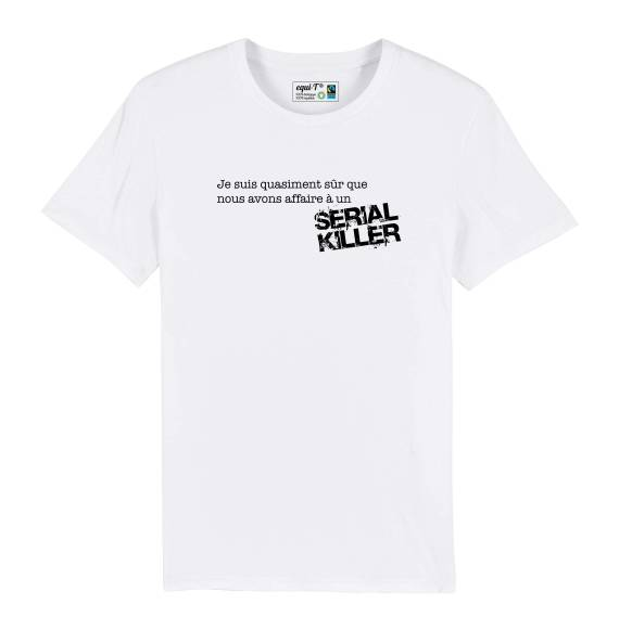 T-shirt homme affaire à un serial killer