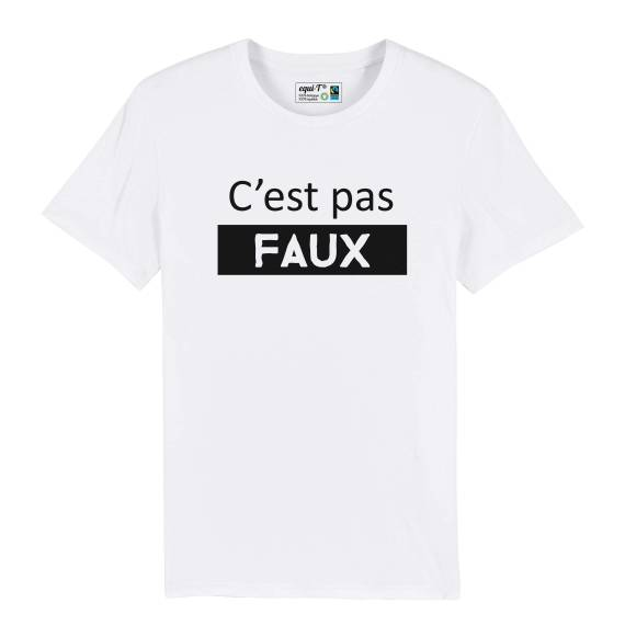 T-shirt homme c'est pas faux