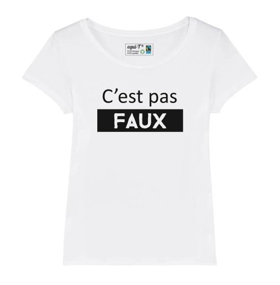T-shirt femme c'est pas faux