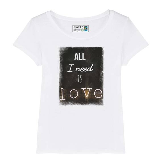 T-shirt femme All i need is love