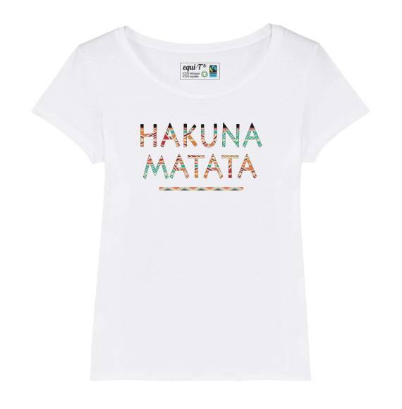 T-shirt femme Hakuna Matata Colorful