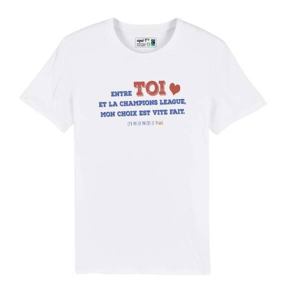 T-shirt homme toi & la champions league