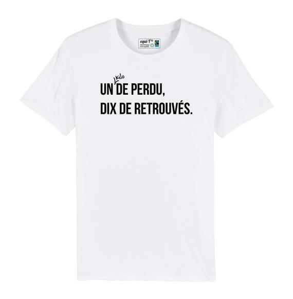 T-shirt homme Un kilo de perdu, dix de retrouvés