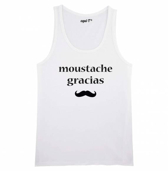 Débardeur homme Moustache gracias