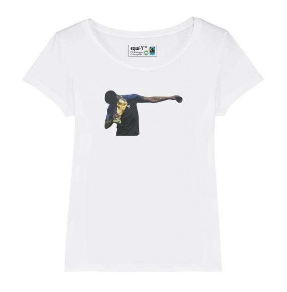 T-shirt femme Pogba avec la coupe