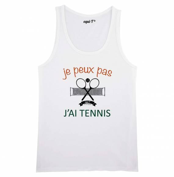 Débardeur homme Je peux pas j'ai tennis