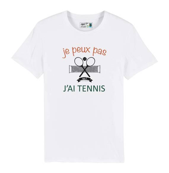 T-shirt homme je peux pas j'ai tennis