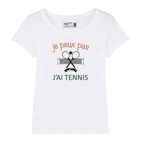 T-shirt femme Je peux pas j'ai tennis