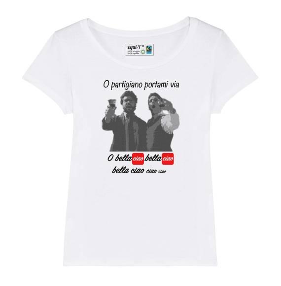 T-shirt femme Bella ciao (La casa de Papel)