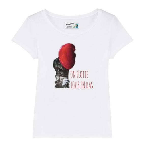 T-shirt femme - On flotte tous