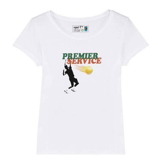 T-shirt femme original premier service roland garros