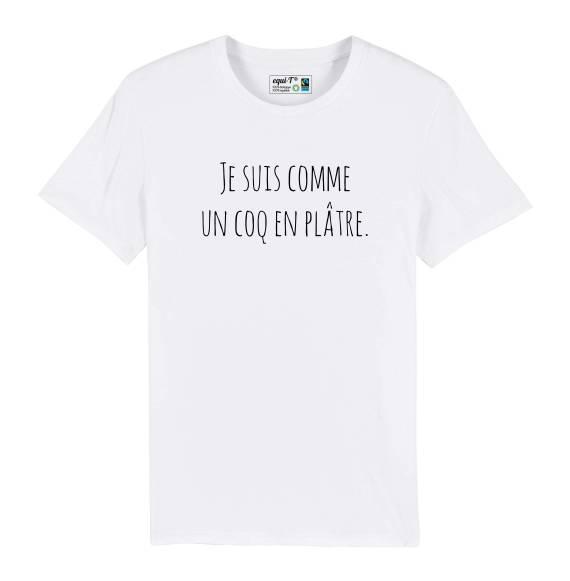T-shirt homme original comme un coq en plâtre