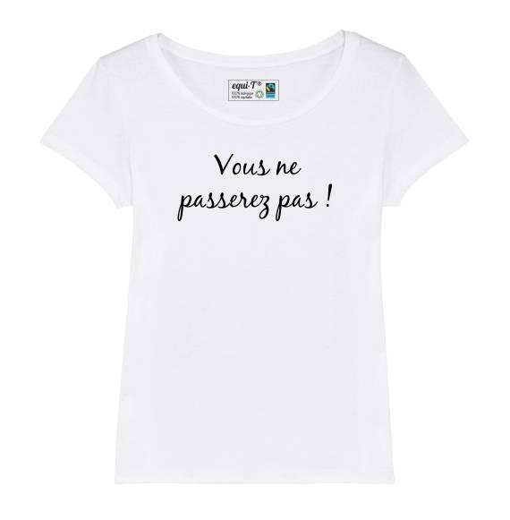 T-shirt femme Le seigneur des anneaux Gandalf - Vous ne passerez pas !