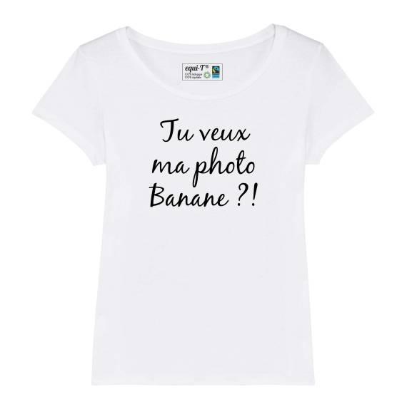 T-shirt femme Retour vers le futur - Tu veux ma photo banane !