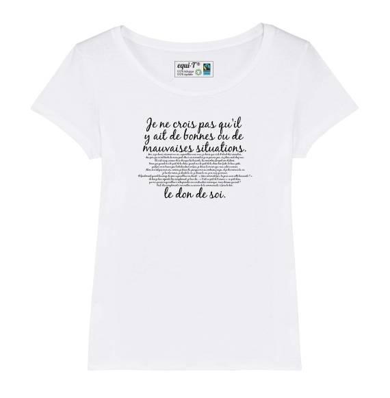 T-shirt femme Mission Cléopatre Otis - Je ne crois pas qu'il y ait de bonnes..