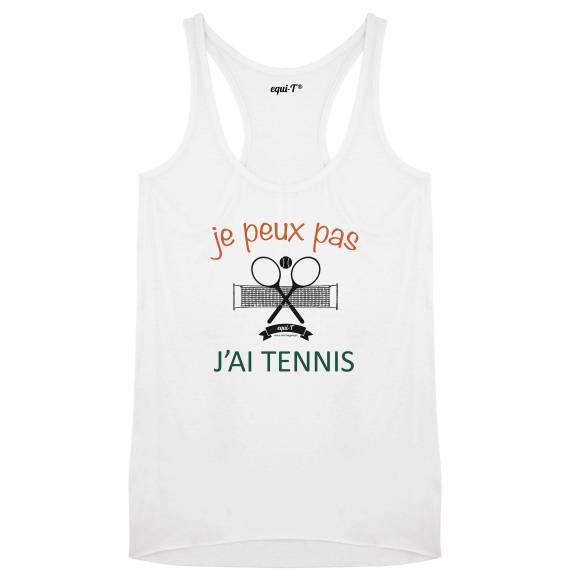 Débardeur femme je peux pas j'ai tennis