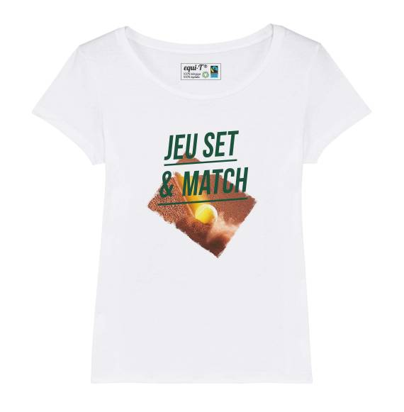 T-shirt femme original jeu set et match #tennis Roland Garros