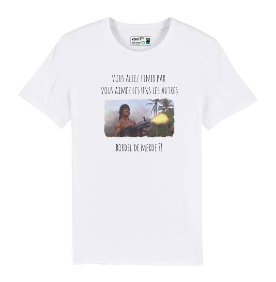 T-shirt homme original Vous allez finir les uns les autres - Les inconnus #stallone