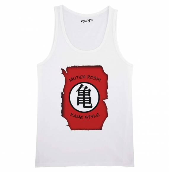 Débardeur homme tortue géniale / muten roshi kanji