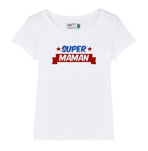T-shirt femme Super Maman - fête des mères