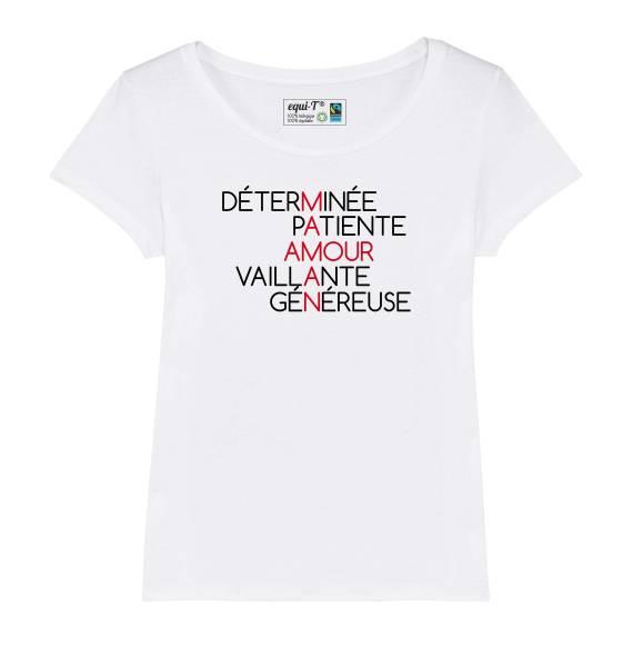 T-shirt femme Maman Amour - fête des mères