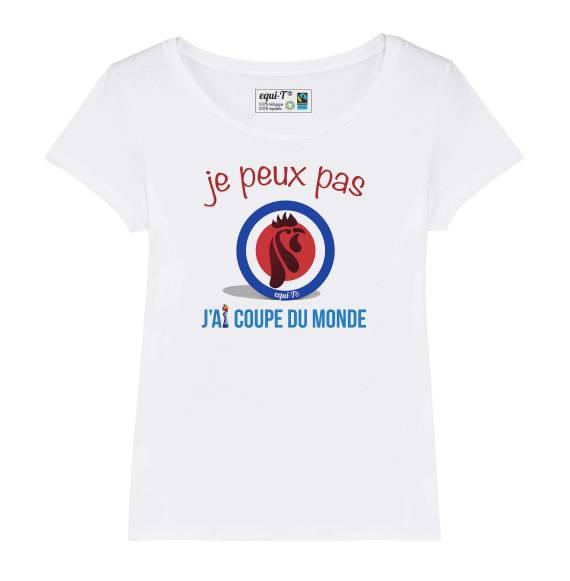 T-shirt femme je peux pas j'ai coupe du monde - France 2019