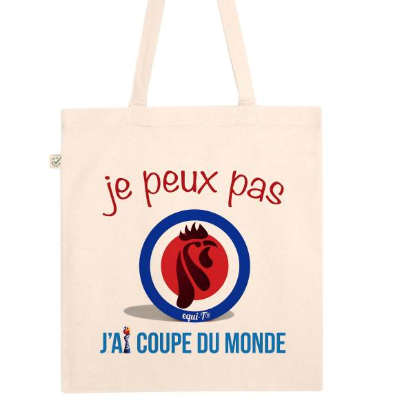 Tote bag je peux pas, j'ai coupe du monde - France 2019