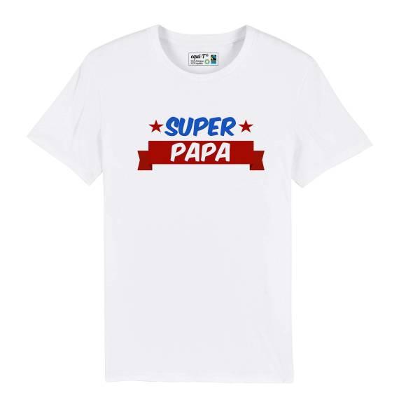 T-shirt homme super papa - fête des pères