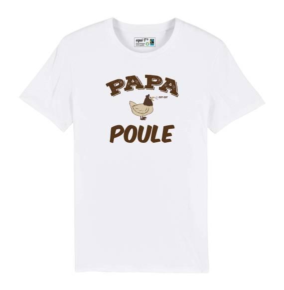 T-shirt homme Papa Poule - fête des pères