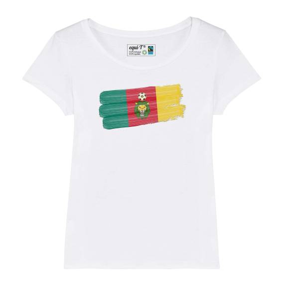 T-shirt femme Cameroun Lions indomptables Can 2019