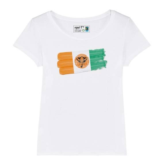 T-shirt femme Cote d'ivoire elephants - can 2019