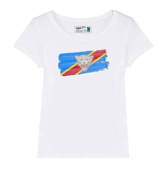 T-shirt femme RDC Congo Leopards - can 2019