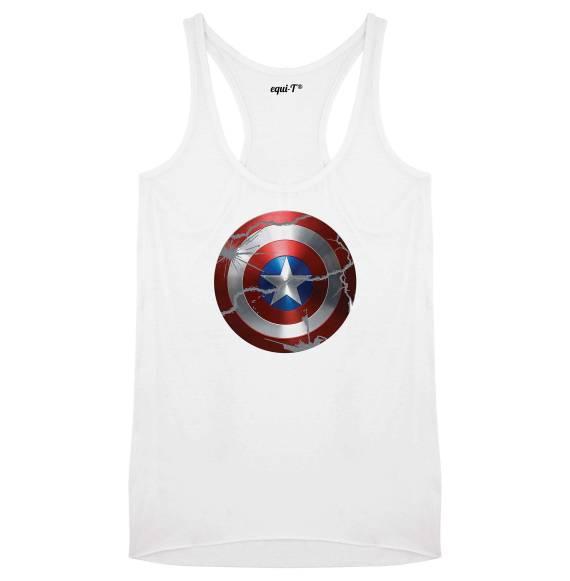 Débardeur femme original captain america bouclier - Avengers