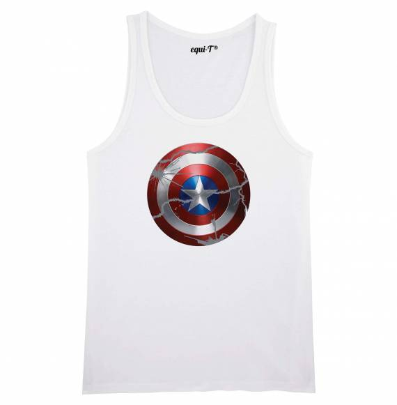 Débardeur homme original Captain America bouclier - avengers