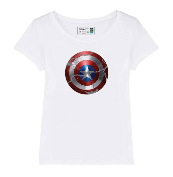 T-shirt femme original captain america bouclier - avengers