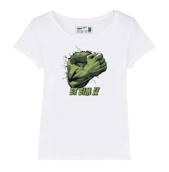 T-shirt femme original hulk - avengers